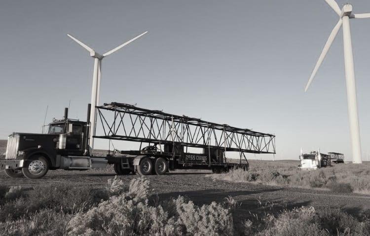 Hauling equipment in a wind farm