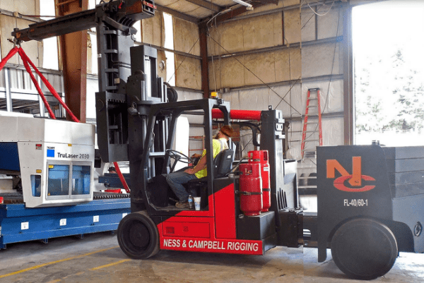Versalift rigging machinery NessCampbell