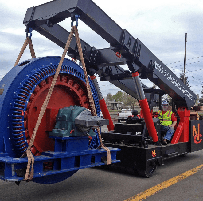 NessCampbell Twinlift moving heavy machinery